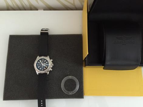 1139f40fe92 Breitling Super Avenger Black Dial Chronograph