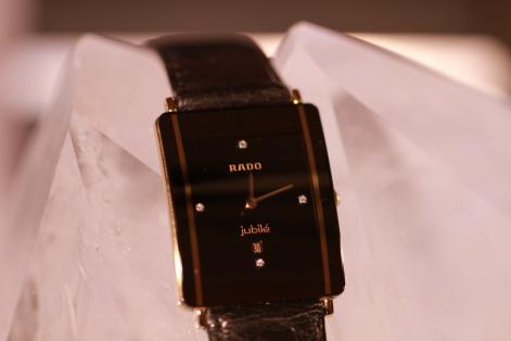 0ea63b6ba Luxusní hodinky Rado Jubilé, 4 brilianty, zlacené | Bazar Hodinek